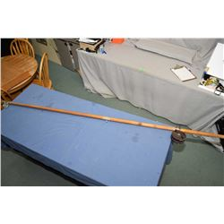 "Vintage deep sea fishing rod and an Australian made ""The Alpha"" fishing reel"