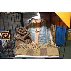 Selection of vintage Fendi including a bucket bag, wool scarf and a shopping bag