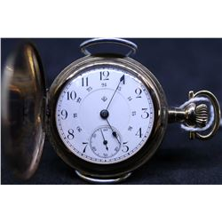 "T. Eaton Co. size ""0"", 15 jewel Swiss made pocket watch. Serial # 49418, dates to 1902. 3/4 split ni"