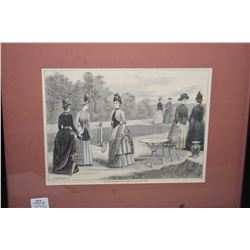 """Two framed prints including an Edmonton scene signed Weber '72 and a vintage etching """"Autumn Walking"""