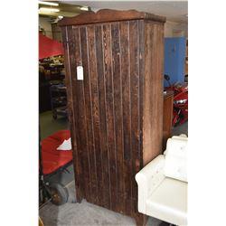 Antique primitive style single door wardrobe
