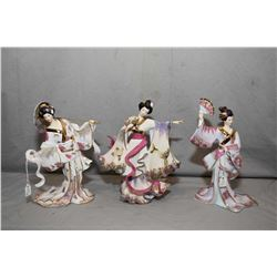 """Three Bradford Exchange figures from the Silken Whispered Collection including """"Delicate Elegance"""","""
