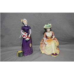 Two Royal Doulton figurines including Kathleen HN2933 and Good Day Sir HN2896