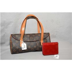 Louis Vuitton Damier patent leather wallet, date code TS 3142 and a small Louis Vuitton Recital bag