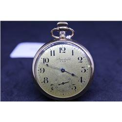 "New York Standard size ""6"" , 7 jewel pocket watch. Serial # 017641, dates to 1894. 3/4 nickel plate"