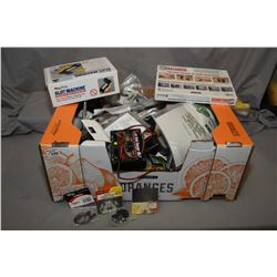Large selection of mostly new in package model plane parts and accessories including propellers, bal