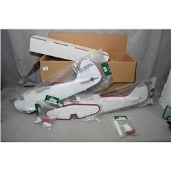 Selection of new foam model airplane parts including fuselages, wings, tires etc., view in person to