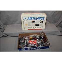 Selection of new in package model airplane electrical parts including Richmodel R-5010 servos and To