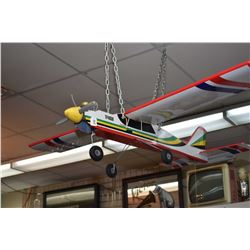 Assembled wood and fabric Boomerang 40 model airplane with engine and propeller