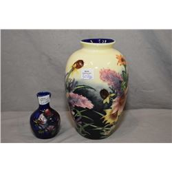 """Small Moorcroft anemones bud vase 3 1/2"""" in height and an 8"""" Adelaine vase"""