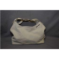 Vintage Miu Miu cream leather handbag