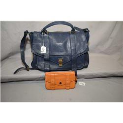 Vintage Proenza Schouler PS1 navy leather handbag and a PS1 tan coloured leather wallet
