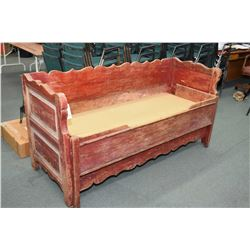 Antique painted trundle bed