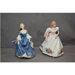 Two Royal Doulton figurines including Hilary HN2335 and Joanne HN3422