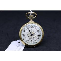 "Westclox size ""16"" pocket watch. Serial ""W"", dates to early 1900's. Stem wind and set watch in fancy"