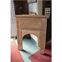 """Vintage corner fireplace surround and mantle, striped and ready to finish 43"""" at it's widest"""