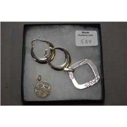 Selection of genuine Tiffany & Co. sterling silver jewellery including a pair of hoop style earrings