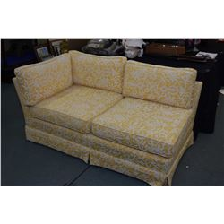 Small two seat love seat with armless left side