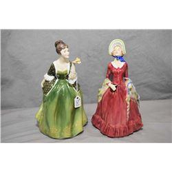 Two Royal Doulton figurines including Fleur HN2368 and Sabbath Morn RN842487