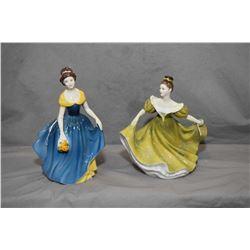 Two Royal Doulton figurines including Melanie HN2271 and Lynne HN2329