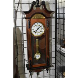 Semi contemporary 31 day chiming mantle clock, working at time of cataloguing