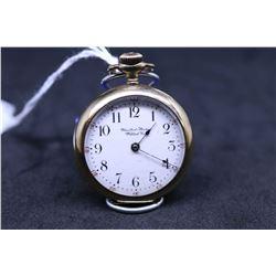 """United States Watch Co. size """"0"""", 7 jewel pocket watch. Serial # 814142, dates to 1896. Split nickel"""