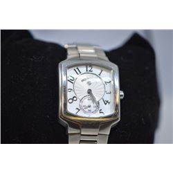 Lady's Philip Stein stainless steel wrist watch with second sweep and Arabic numbers