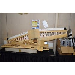 Huge selection of model airplanes parts, partially assembled structures, accessories etc.
