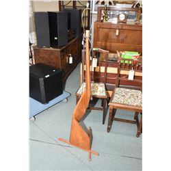 Interesting mid century design teak floor lamp