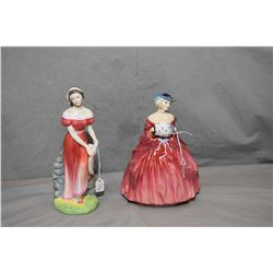 Two Royal Doulton figurines including Genevieve HN1962 and Gemma HN3168