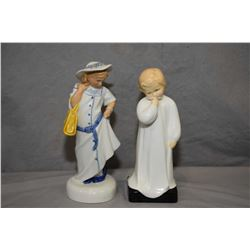 Two Royal Doulton figurines including Childhood Days HN2964 and Darling HN1319