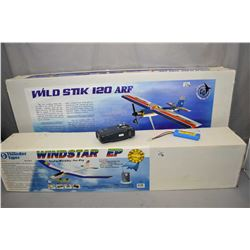Two boxed airplane kits including Wild Stik 120 ARF and Windstar EP,check in person to verify parts