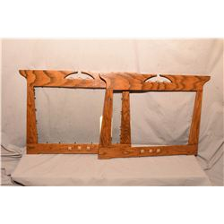 "Matching pair of Arts and Craft oak picture frames 17"" X 22"""