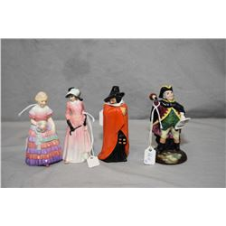 Four Royal Doulton figurines including Bridesmaid RN760007, Maureen RN814286, Town Crier HN3261 and