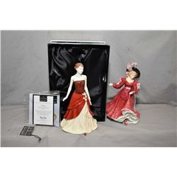 Two Royal Doulton figurines including Emily HN4817 and Patricia HN3365