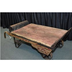 Antique trolley style warehouse scale