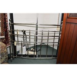 Queen sized chrome plated headboard, footboard and rails
