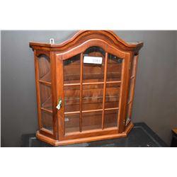 Wall mount display cabinet
