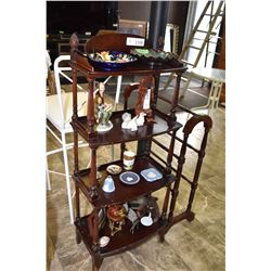 Four tier mahogany 'tagŠre made Deilcraft, contents not included