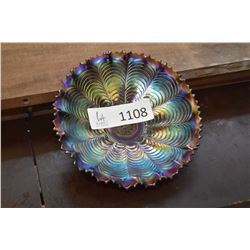 Carnival glass dish made by Northwood