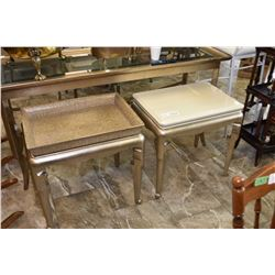 Two modern side tables