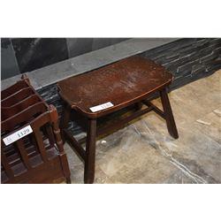 Tudor style wooden stool