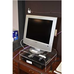 Sony WEGA Television and a Motorola DCX 3400-M dual turner DVR and acrylic stand