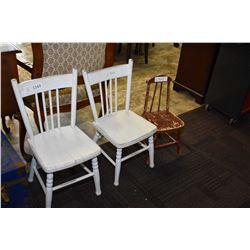 Three child sized chairs