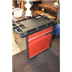 Mastercraft rolling tool cart with two drawer and storage cupboard