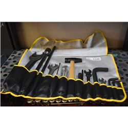 Brand new purpose made tool roll with open end wrenches, hammer etc. possible for a tractor