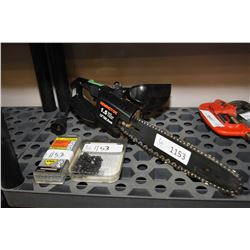 """Remington 12"""" electric chainsaw and extra chains"""
