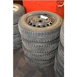 Set of Michelin X-ICE tires, size 175/65 R15 mounted on steel Mini Cooper rims