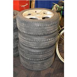 Set of four Eagle NCT 5 tires size 195/55 R16 mounted on aluminium Mini Cooper rims