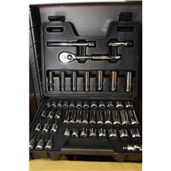 Boxed Mastercraft 3/8 drive metric and Imperial shallow and deep socket set